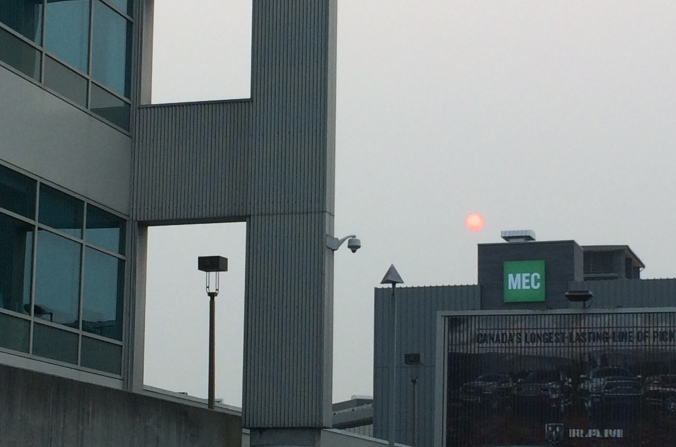 Sept 7_Smokey sun on the way to work